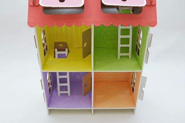 Как сделать дом из картона для кукол