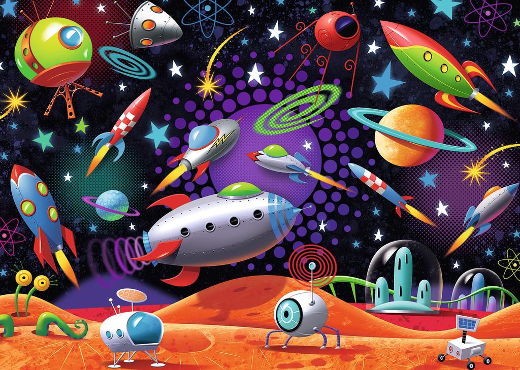 Детская картинка про космос